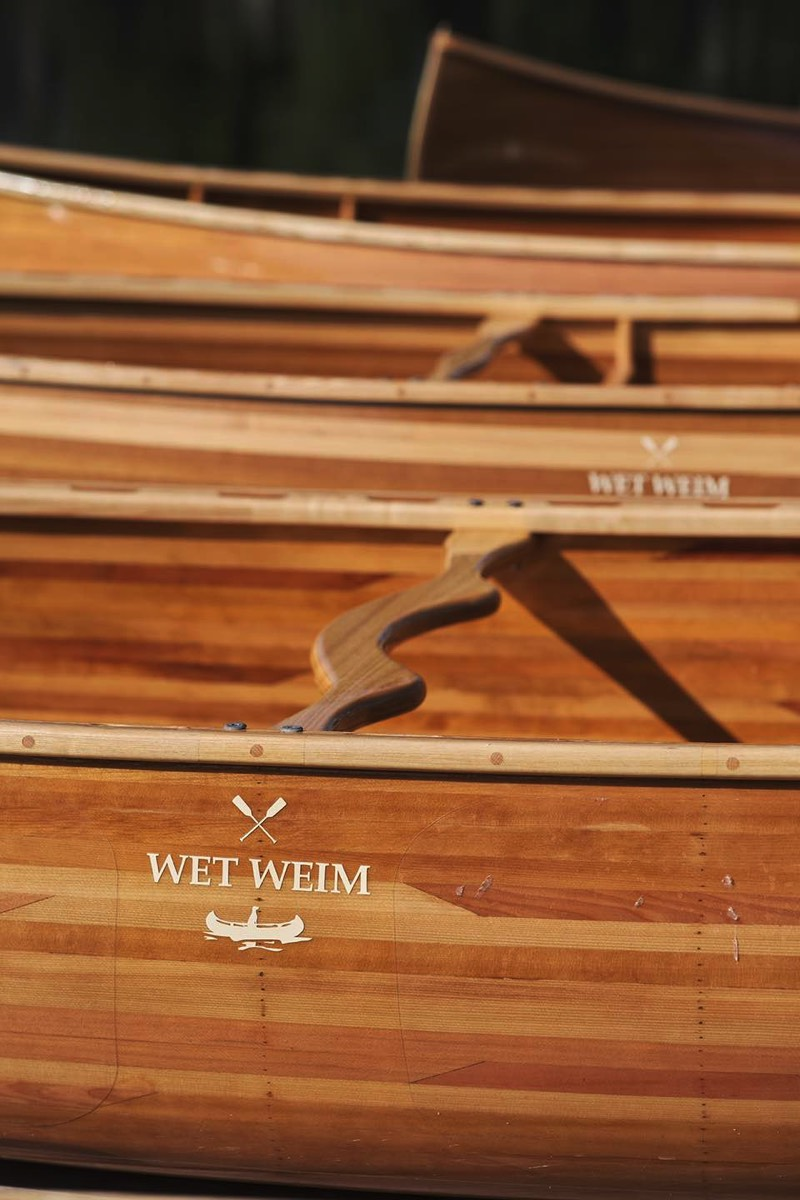 Wet weim wooden canoes