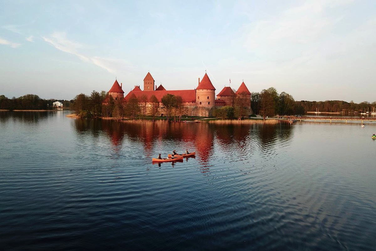 Sunset in Trakai